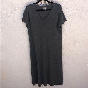 J. Jill Gray Wool Sweater Dress